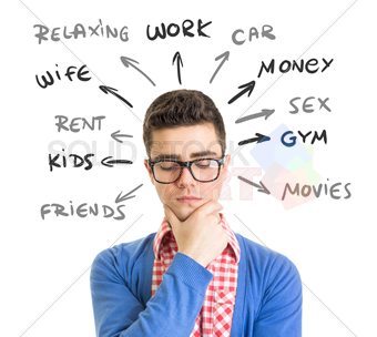 stock-photo-young-man-wearling-glasses-red-checkered-shirt-and-blue-sweater-with-hand-on-chin-thinking-174906